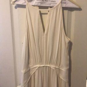 Sleeveless Ivory Dress